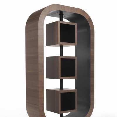 design bookcase curvy small perspective