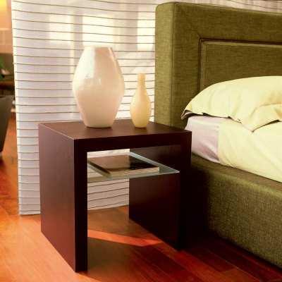 Modern bedside table dino covered in oak