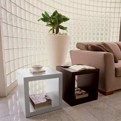 Coffee table Kubo white and black