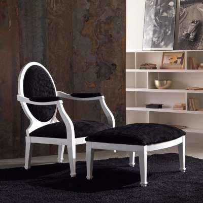 Seduta sedia con pouff luna saturno