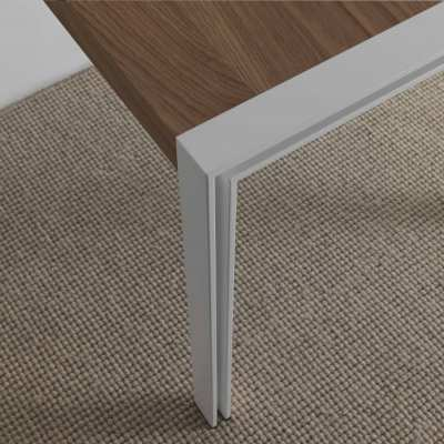 skinny design table natural oak - white structure