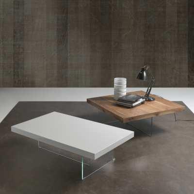 Tavoli in cristallo e legno Flai